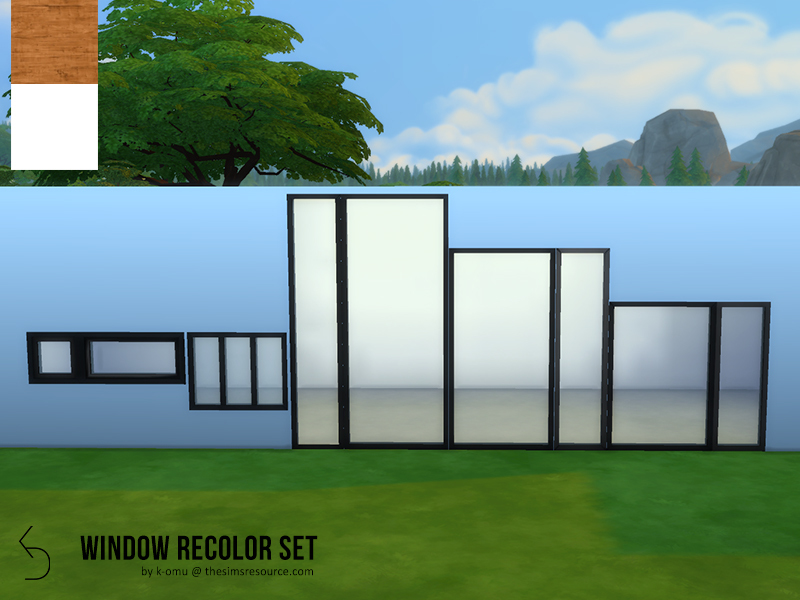 K Omu S Modern Window Recolor Set