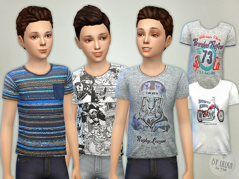Lillka S T Shirt Collection For Boys P05