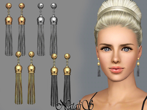 Sims 3 — NataliS TS3 Tassel earrings FT-FA by Natalis — Chain Tassel Earrings have become the must have jewelry item