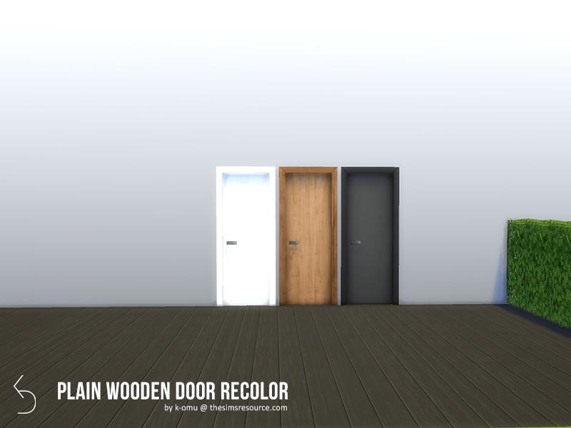 Plain Wooden Door Recolor