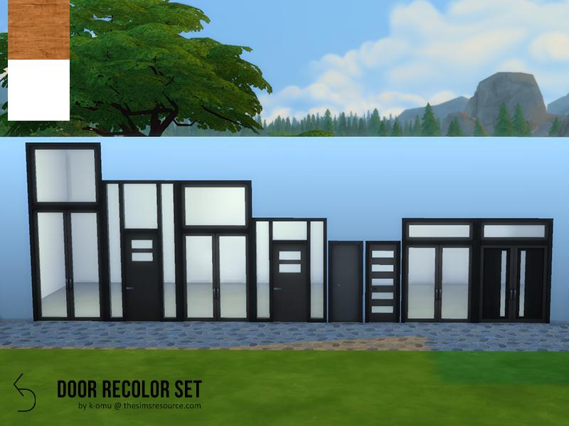 K Omu S Modern Door Recolor Set
