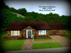 Sims 3 — The Starter Craftsman -- 1BR, 1.5BA by sweetpoyzin2 — A little house in the woods for just yourself. A true