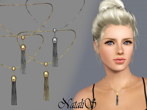 Sims 3 — NataliS TS3 Tassel pendant FT-FA by Natalis — Chain Tassel pendant necklace have become the must have jewelry