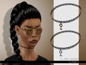 Sims 3 — LeahLilith Clarity Choker by Leah_Lillith — Clarity Choker 2 recolorable areas hope you will enjoy^^