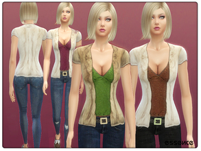Sims 4 — Fur Coat with Skinny Jeans by simseviyo — Great for daily occasions!