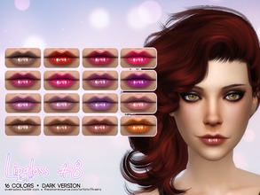 Sims 4 — Lipgloss #8 - Dark Version by Aveira — - 16 Colors - Standalone and Custom Thumbnail - All ages