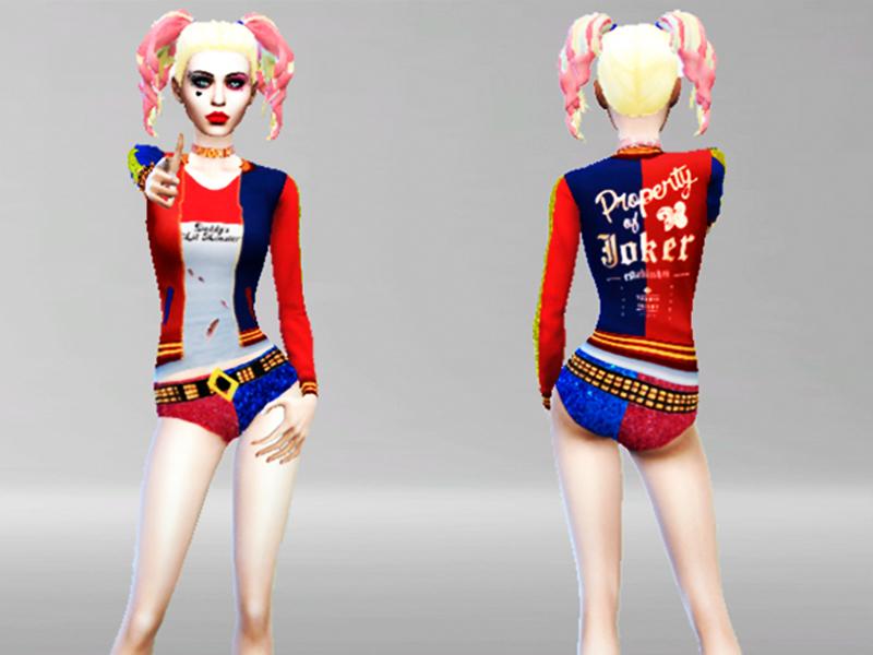 Harley Quinn Makeup Sims 4 Mugeek Vidalondon