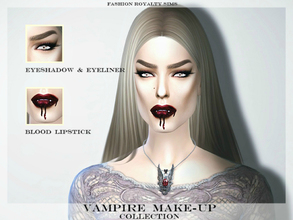 Sims 4 — Vampire Make-up Collection by FashionRoyaltySims — Includes eyeshadow, eyeliner and lipstick. Standalone, custom