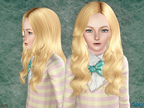 Sims 3 — Raindrops - Female Hairstyle CF by Cazy — Hairstyle for Female, Child. LODs included.