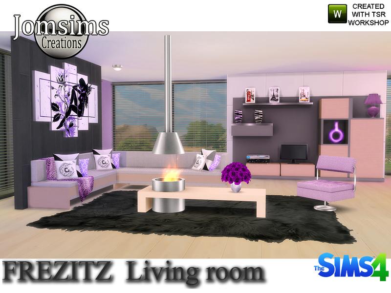 Jomsims 39 frezizt modern living room for 3 star living room chair sims