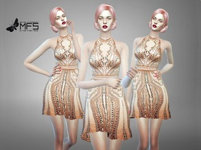 Sims 4 — MFS Josephine Dress by MissFortune — Standalone, Hq texture, custom thumbnail, two colors.