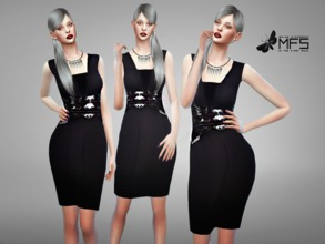 Sims 4 — MFS Angie Dress by MissFortune — Standalone, Hq texture, custom thumbnail, one color