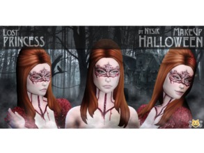 Sims 4 — Halloween MakeUp - Set2 by Nysk — Halloween MakeUp Set2 Pack include three types of makeup: - Lost Princess -