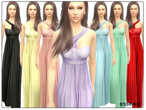 Sims 4 — Tulle Maxi Dress by simseviyo — Beautiful tulle maxi dress for your glamourus events