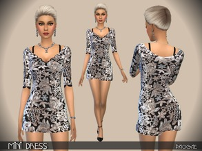 Sims 4 — MiniDress by Paogae — Sexy and elegant short dress, to be used also as lingerie. Categories: everyday, formal,