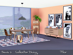 Sims 3 — Collector Dining by Pilar — Mix of styles, current furniture, a vintage note and an exotic touch