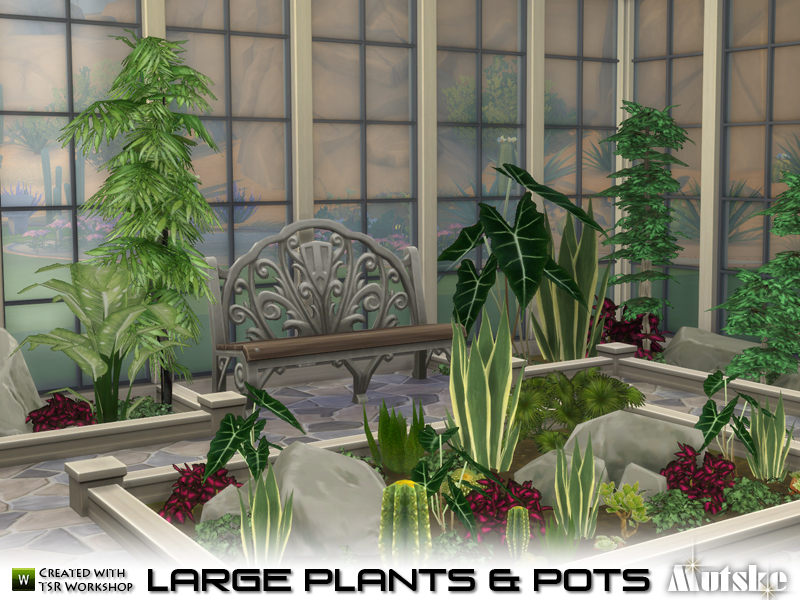Mutske 39 s large plant and pots for Indoor gardening sims 4