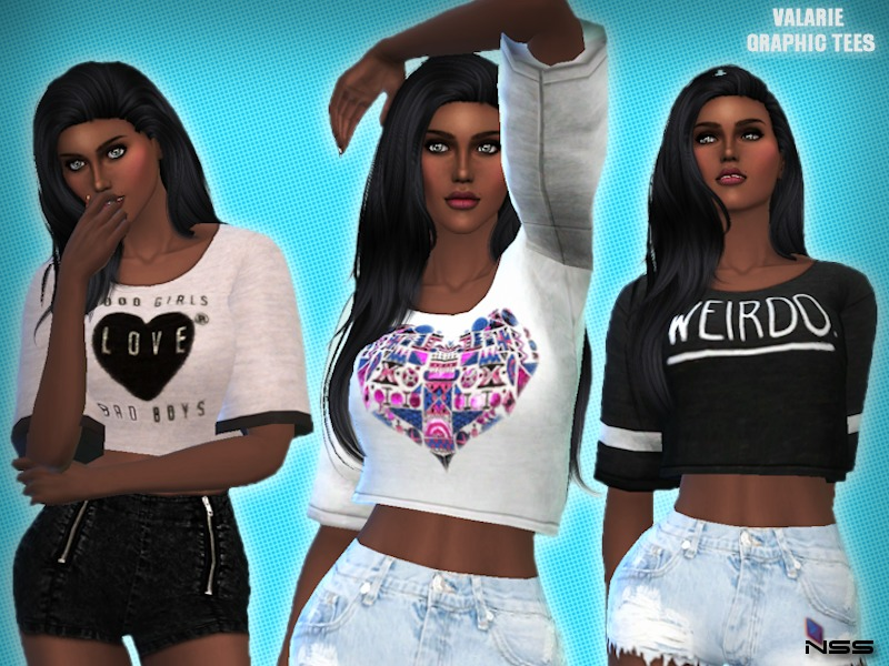 niteskky s valarie graphic tees mesh needed
