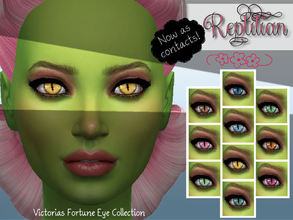 Sims 4 — Victoria's Fortune Reptilian Contact Collection by fortunecookie1 — Here are 10 new reptilian contacts just in