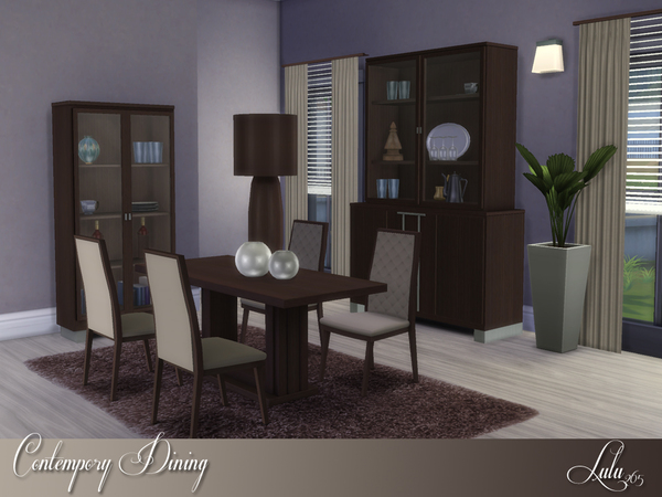 Lulu265 39 s contemporary dining for Sims 3 dining room ideas