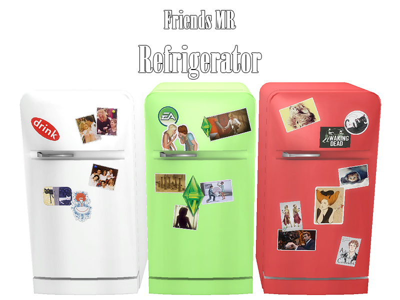 Kiolometro's Friends MR Refrigerator The Sims Resource