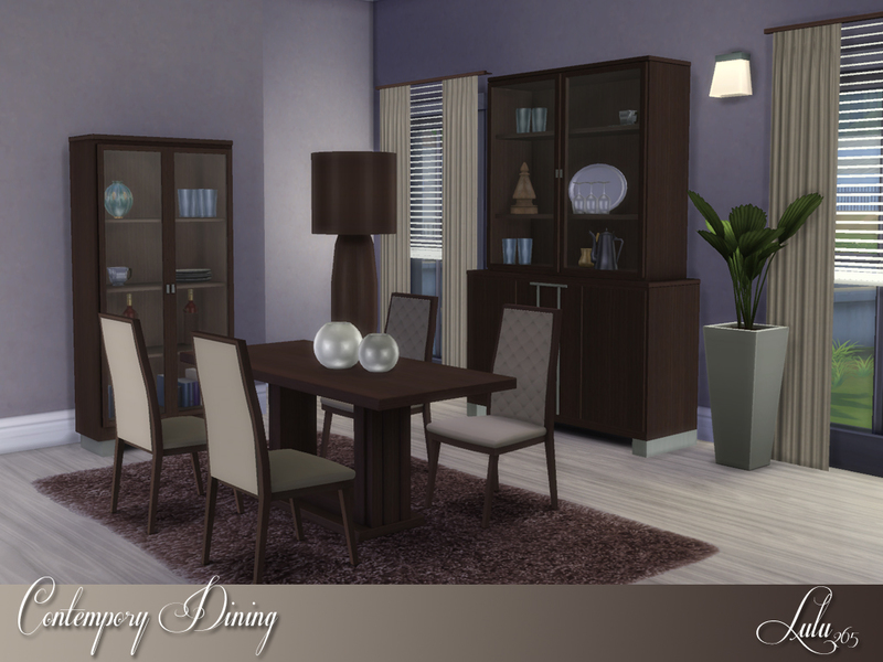 Lulu265 39 s contemporary dining for Dining room ideas sims 4