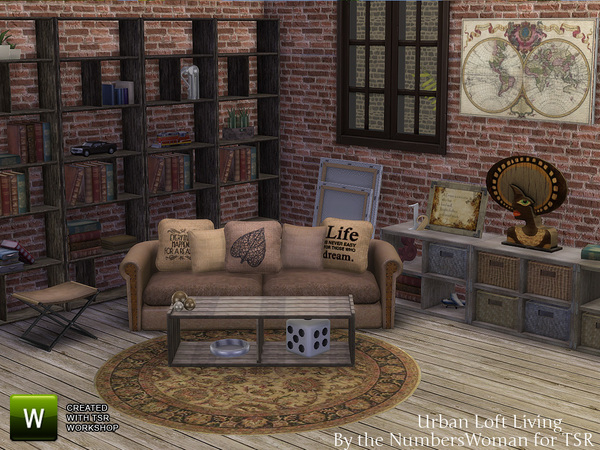 TheNumbersWoman's Urban Loft Living Room
