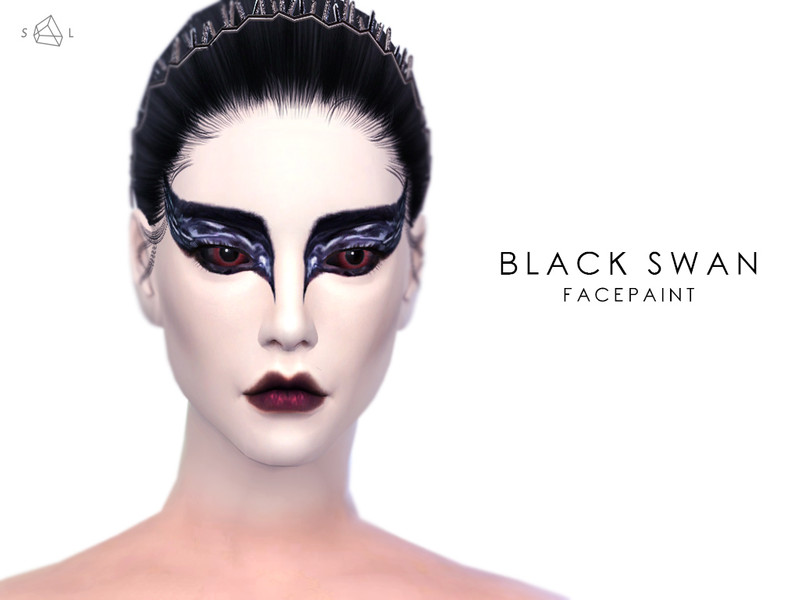 slyds black swan face paint