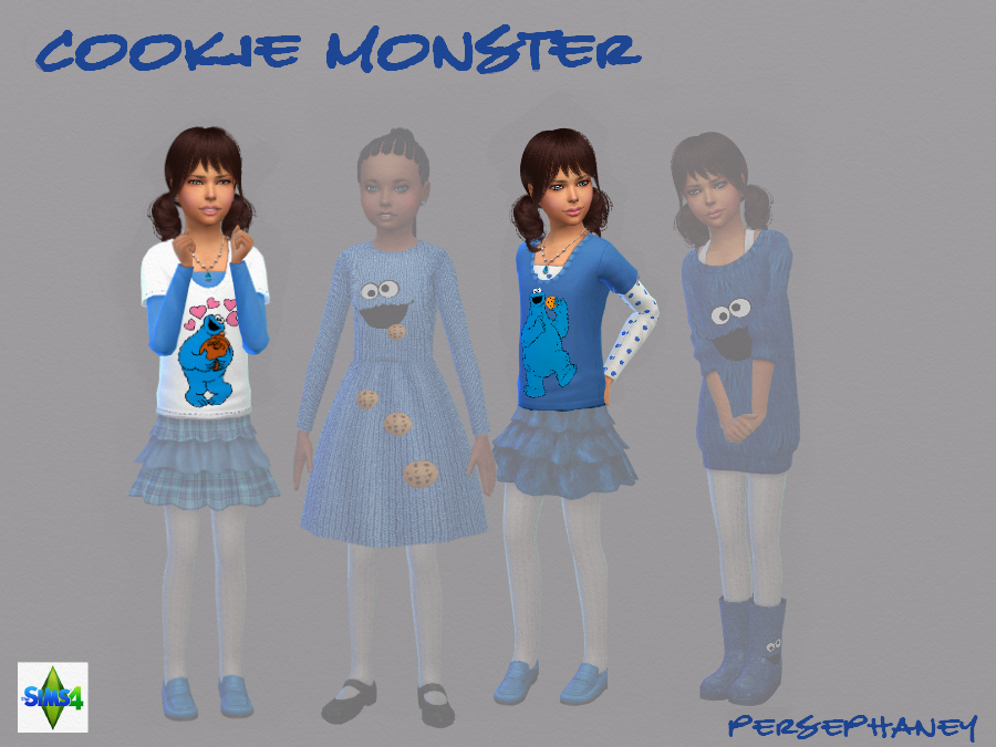 Cookie Monster Layered Tees