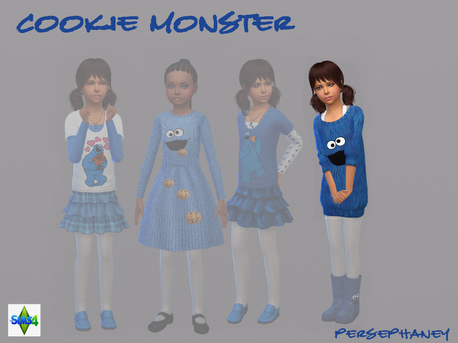 Cookie Monster Sweater Dress