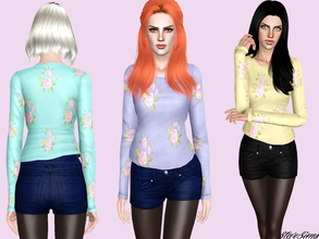 Sims 3 — Fall set by StarSims — Fall set.The perfect outfit for a party or date. The set include a floral sweater and