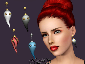 Sims 3 — NataliS TS3 Ghosts earrings FT-FA by Natalis — Ideas for happy Halloween parties! Wear these ghosts earrings on
