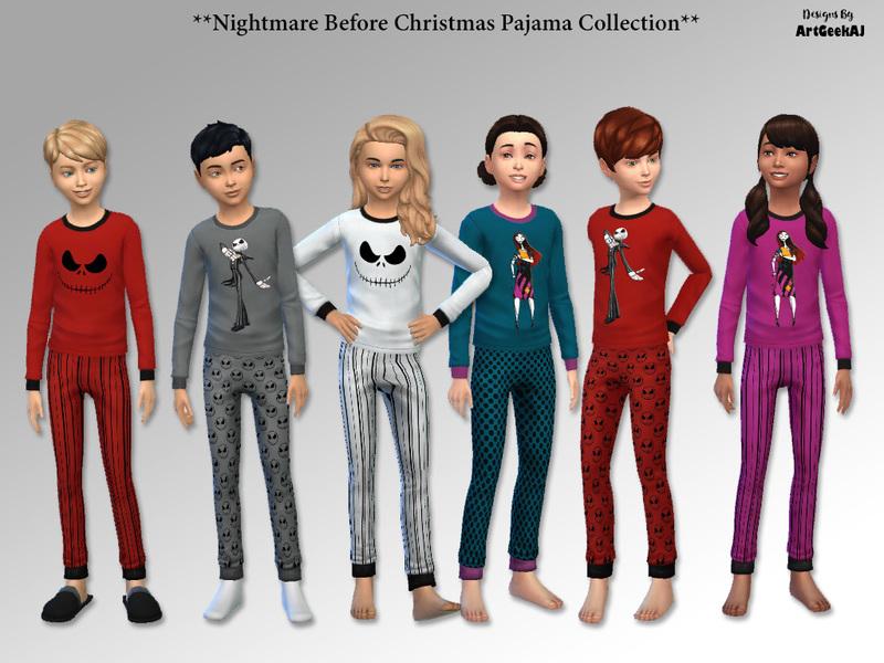 artgeekajs child nightmare before christmas pajama sets