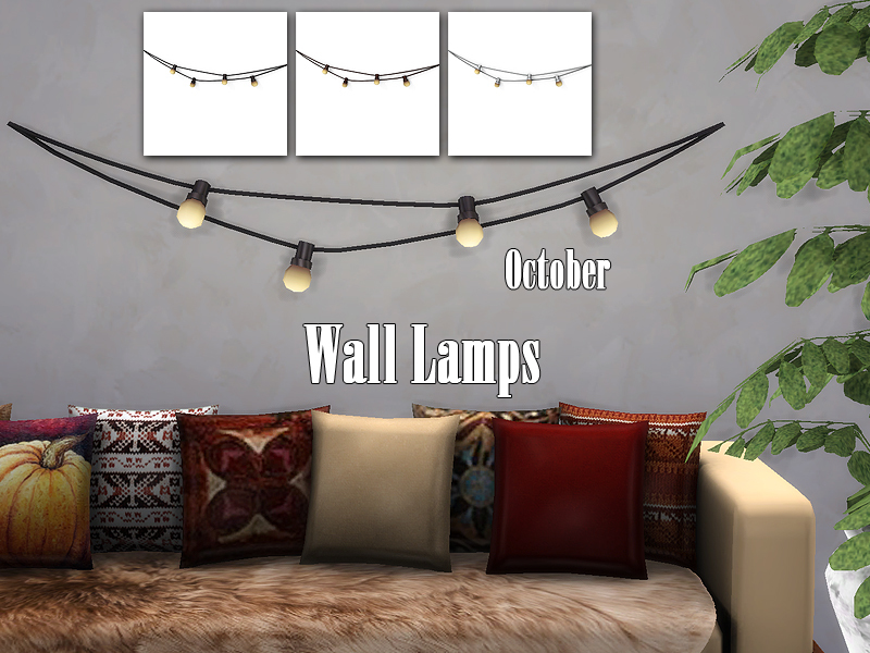 Kiolometro S October Wall Lamps