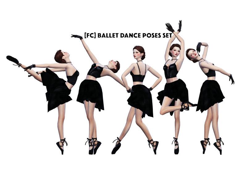 FlowerChamber's Ballet Dance Poses set CAS ver