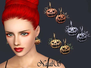 Sims 3 — NataliS TS3 Halloween Pumpkin Earrings  FT-FA by Natalis — Wear these earrings on your Sims on the Halloween