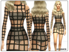Sims 4 — KAGE Dress by simseviyo — Very high detailed cage dress for your formal occasions and coctails