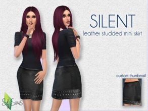 3f5000b56297 SILENT Leather Skirt - SF Sims