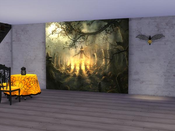 neferu s halloween wall mural 9 foot haunted house halloween wall mural scene setter