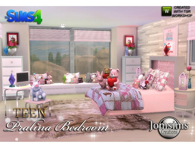 jomsims pralina teen bedroom
