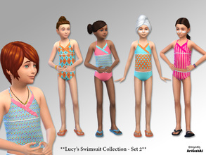 5fc1fc24a4 Sims 4 Child Female -  swimsuit