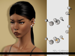 Sims 3 — LeahLilith Perla Earrings by Leah_Lillith — Perla Earrings 2 recolorable areas hope you will enjoy^^