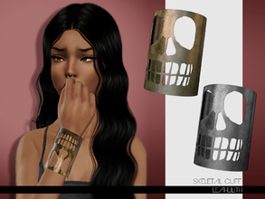 Sims 3 — LeahLilith Skeletal Cuff by Leah_Lillith — Skeletal Cuff fully recolorable hope you will enjoy^^