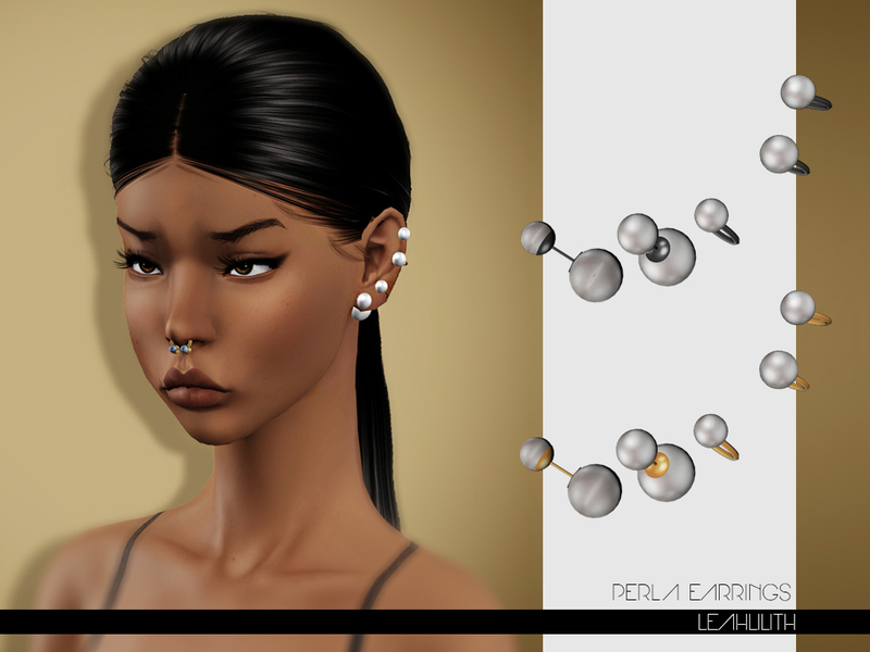 sims 3 earrings lillith s leahlilith perla earrings 7497