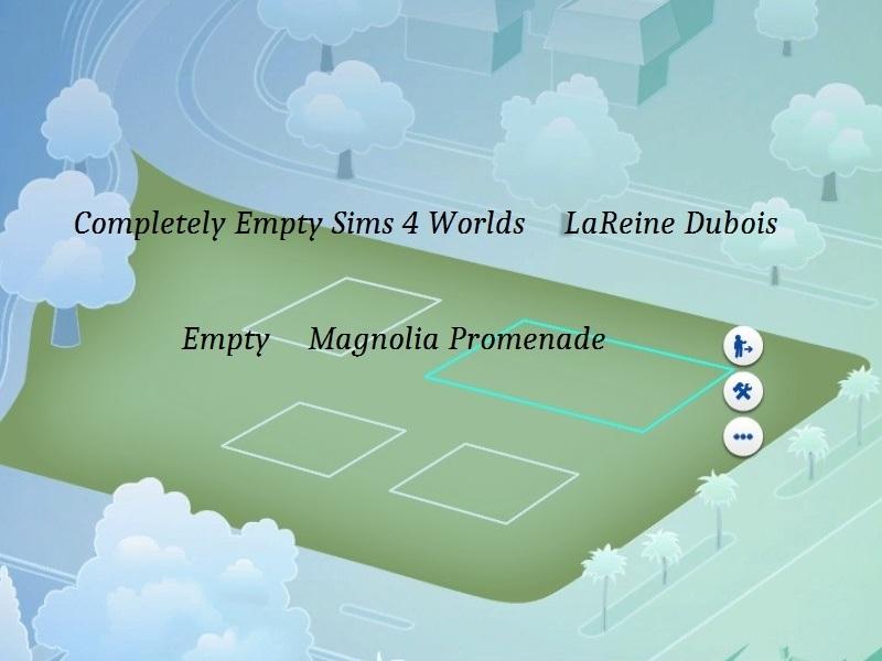LaReineDubois NEW Completely Empty Sims Worlds - Blank world map sims 3
