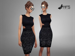 Sims 4 — MFS Joyce Dress by MissFortune — Standalone, Hq texture, Custom thumbnail, one color.