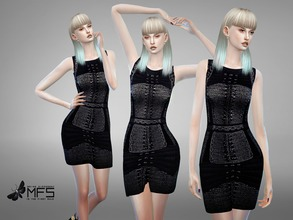 Sims 4 — MFS Adrienne Dress by MissFortune — Standalone, Hq texture, custom thumbnail, one color.