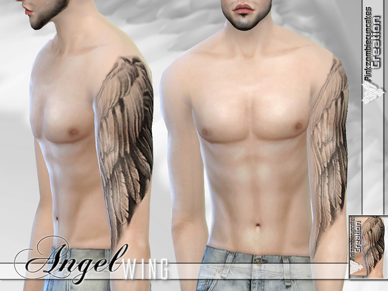 Pzc Angel Wing Half Sleeve Tattoo For Male And Female