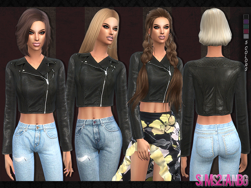 Sims2fanbg S 103 Leather Jacket
