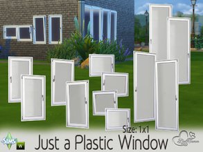 Sims 4 — Just a Plastic Window (1x1) by BuffSumm — This set contains 16 new windows for your Sims. You get them in 4